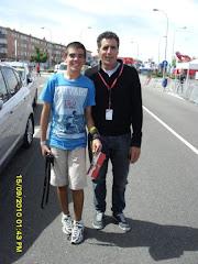 Con Miguel Indurain