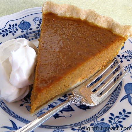 Delightful Repast: Pumpkin Pie with Gluten-Free Pie Crust