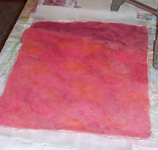 hand colored handmade mulberry paper
