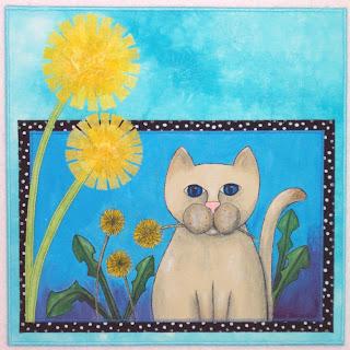 12x12 dandelion art quilt