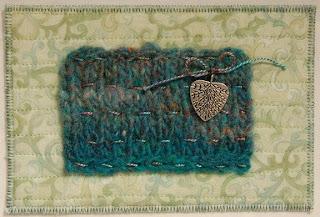 fiber fabric yarn knit postcard