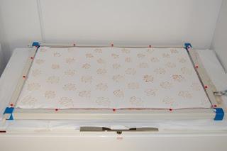 stretcher frame fabric resist