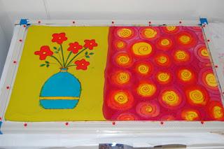 fabric surface design resist color paint