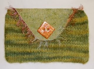 knit knitting pouch button flap