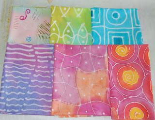 faux batik fabric