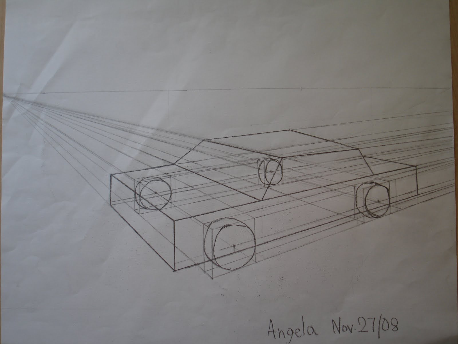 Art Space Of Angela Perspective Drawing Of A Car