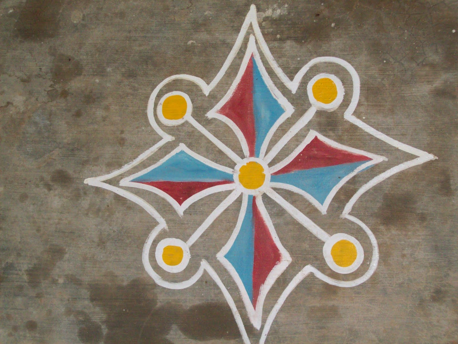 Simple Rangoli Designs Easy With Flowers for Diwali Rangoli