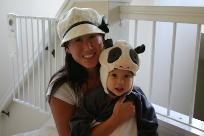 Maya was a panda bear for halloween and had lots of fun trick or