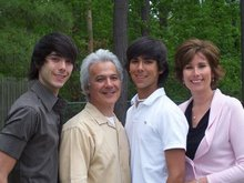 Pastor Tom and Family; Patrick, Matthew & Jeanne