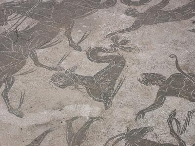 A mosaic in Ostia Antica