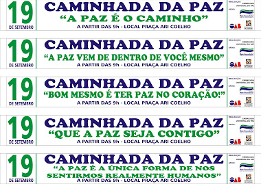 CAMINHADA DA PAZ - CAMPO GRANDE MS
