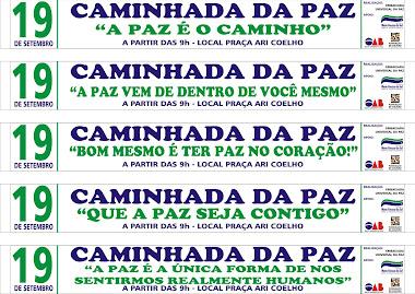 CAMINHADA DA PAZ - CAMPO GRANDE MS