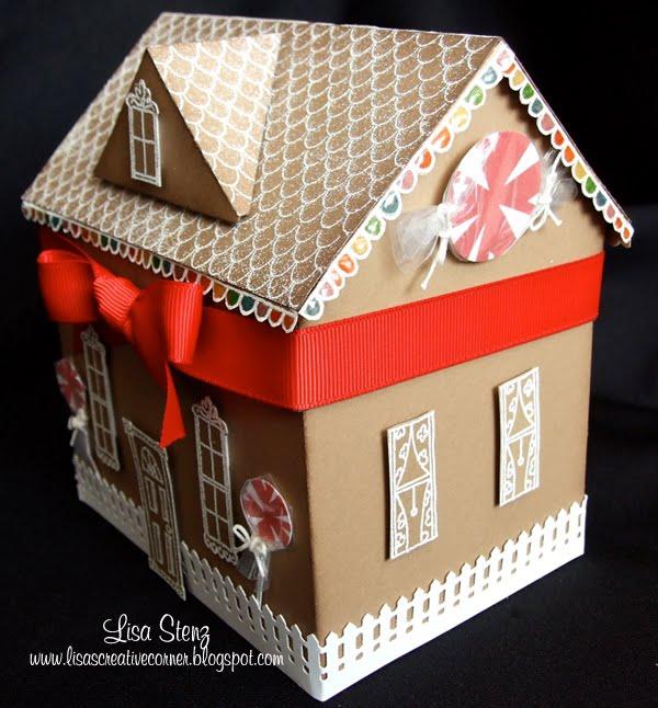 Lisa's Creative Corner: Gingerbread House Gift Box