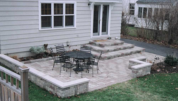 Stone Patio Design Ideas after flagstone patio design Small Backyard Patio