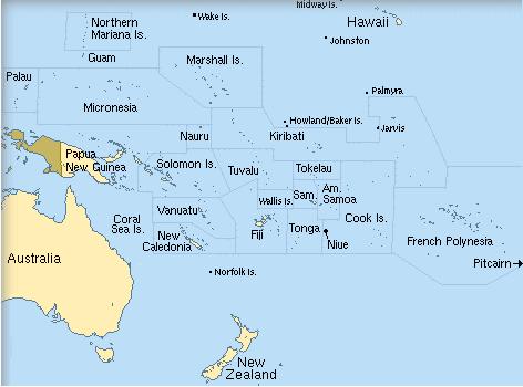 Fiji Kiribati Map - Kiribati map