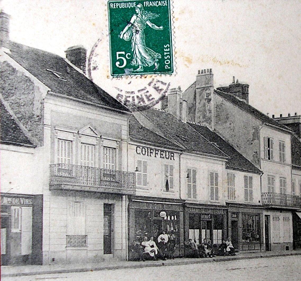 Dtail Dune Carte Postale De 1905