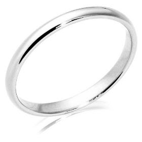Gorgeous White Gold Traditional Women's Wedding Band