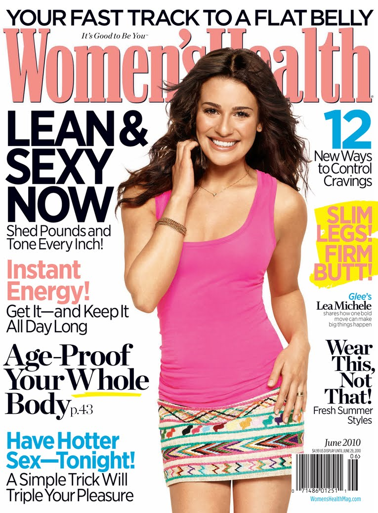 Lea michele covers women s health magazine