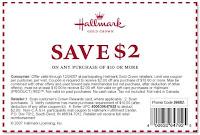 Hallmark Coupon $2/$10
