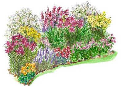 Un jard n de verano guia de jardin for Perennial garden design zone 9