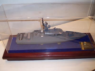 Maket Kapal Cepat Rudal (KCR) 40 m buatan PT. PT Palindo Marine Industri