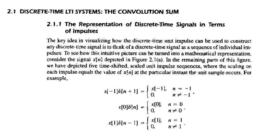 the convolution sum  discrete