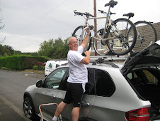 Getting Phils bike on the car