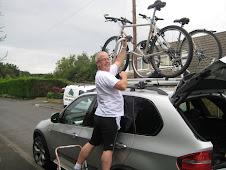 Getting Phils bike on the car