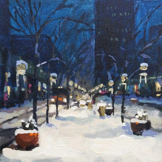 Winter Night Scene Paintings   www.imgarcade.com - Online ...