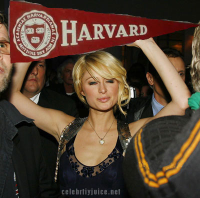 paris hilton harvard woman of the year