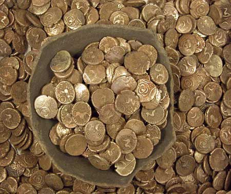 iron age, coins, britain, pre-historic, gold