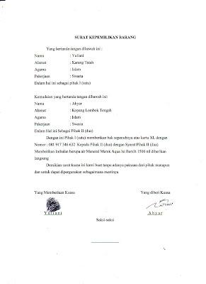 Contoh Surat Kuasa | semua jenis