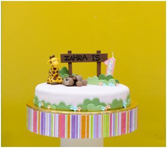 MySugarArt blog My 1st fondant cake for Zahras 1st animal themed