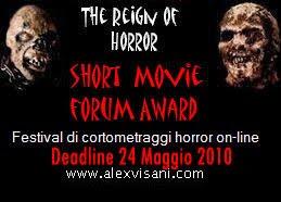 Banner del The Reign of Horror: Short Movie Forum Award
