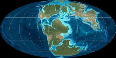 La terre au Jurassique