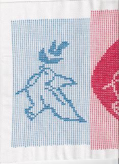 Peguei um pattern de filet crochet e
