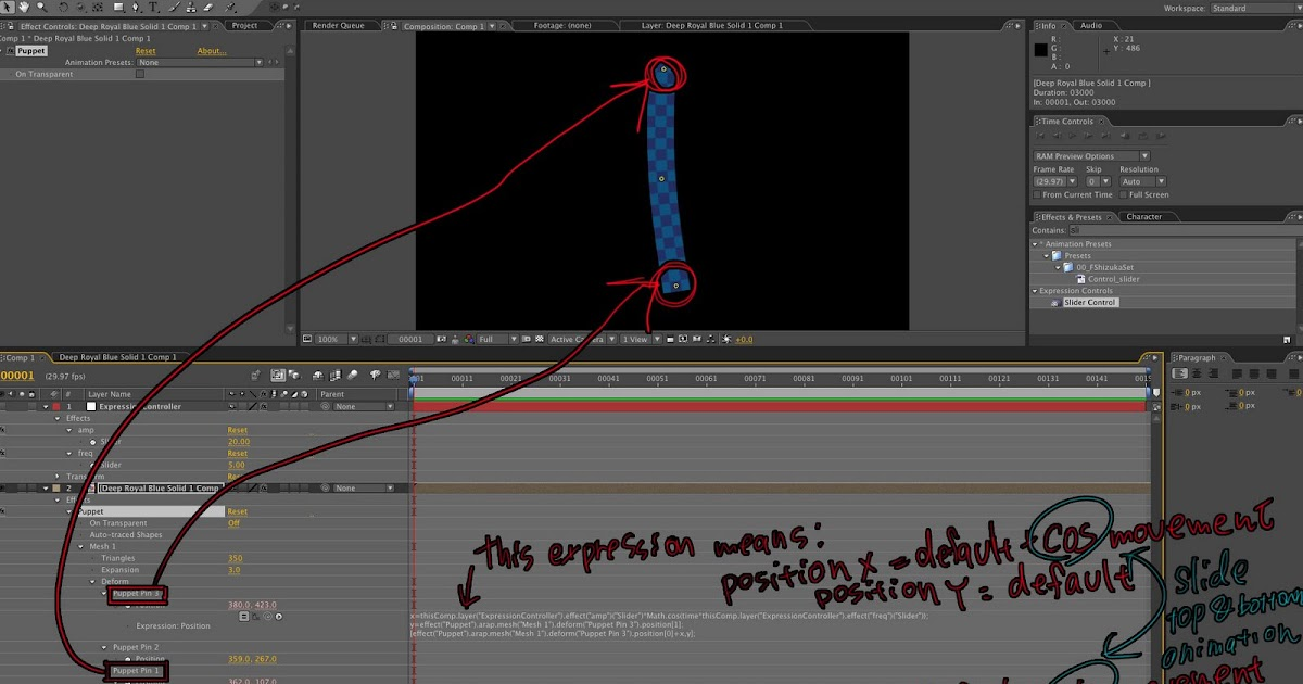 how to use puppet tool in after effects