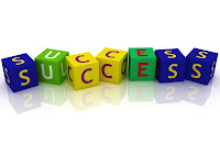 Success spelled out with letter blocks