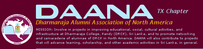 DAANA :: Dharmaraja Alumni Association of North America :: TX Chapter