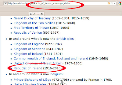 Republic of Ireland no longer Sovereign (according to Wikipedia)