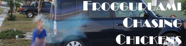 Frogguruami Chasing Chickens