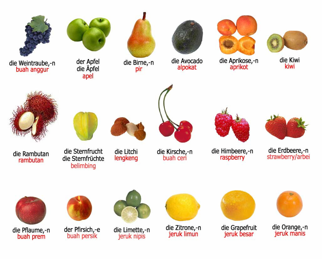 Fruit and Vegetable Names