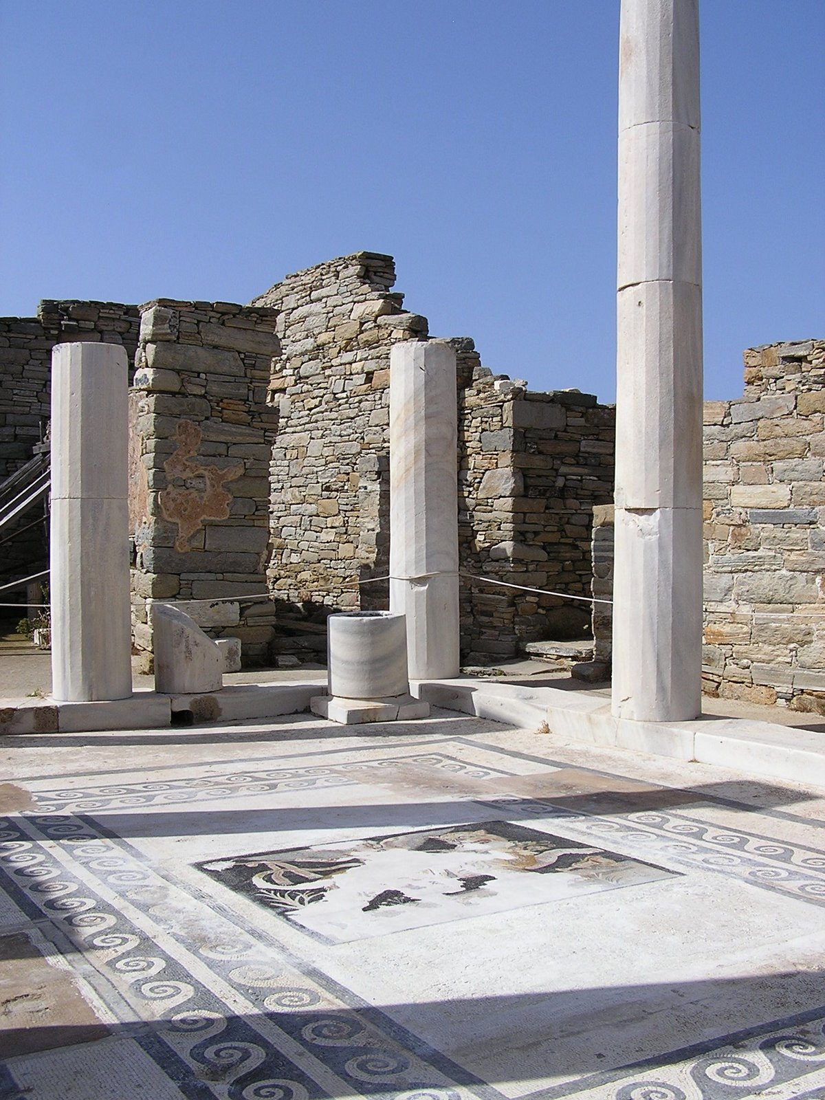 house of dionysos, delos, greece