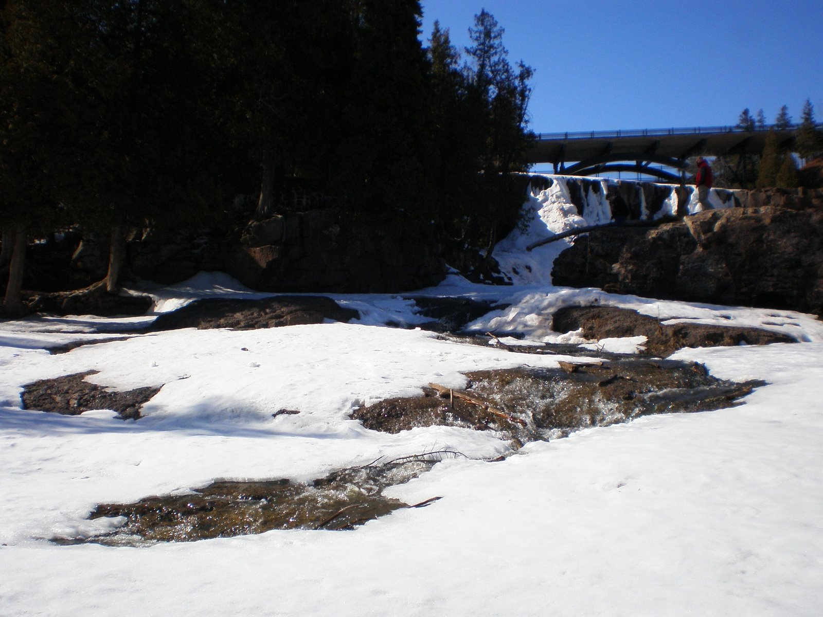 gooseberry falls in the winter