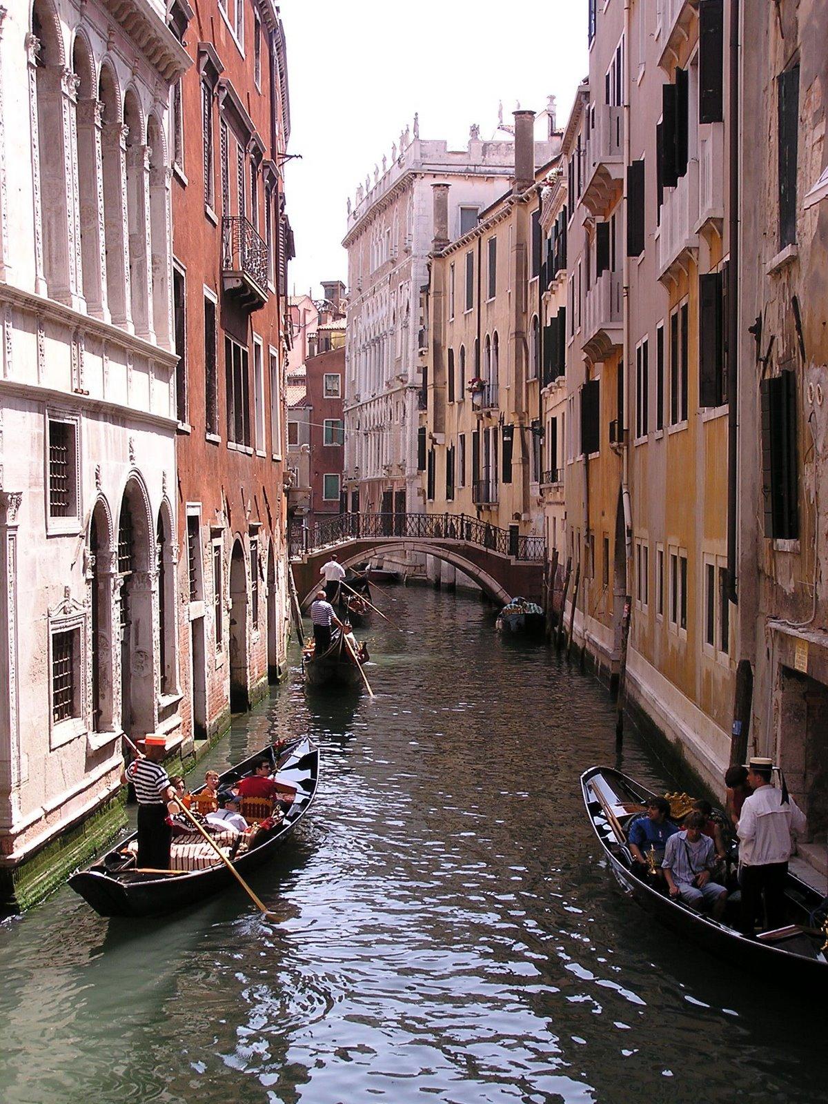 gondolas in Venice, Italy canal