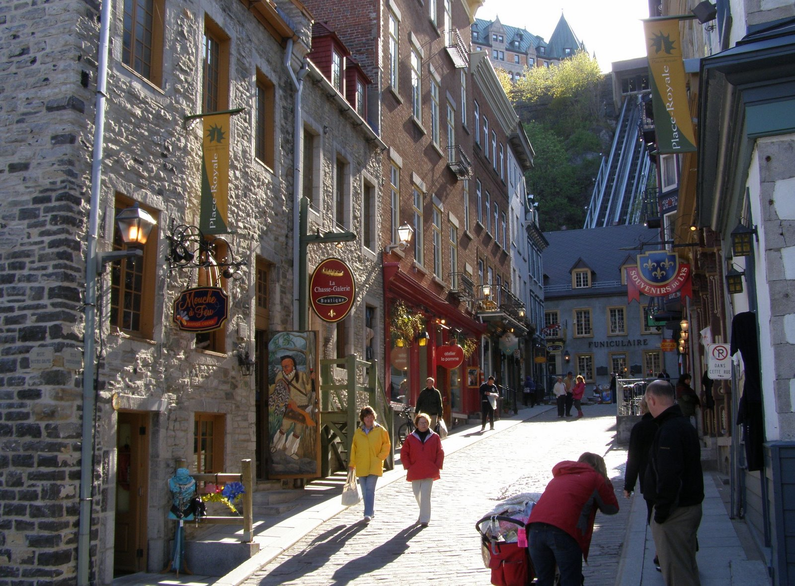 sous le fort, lower town, quebec city