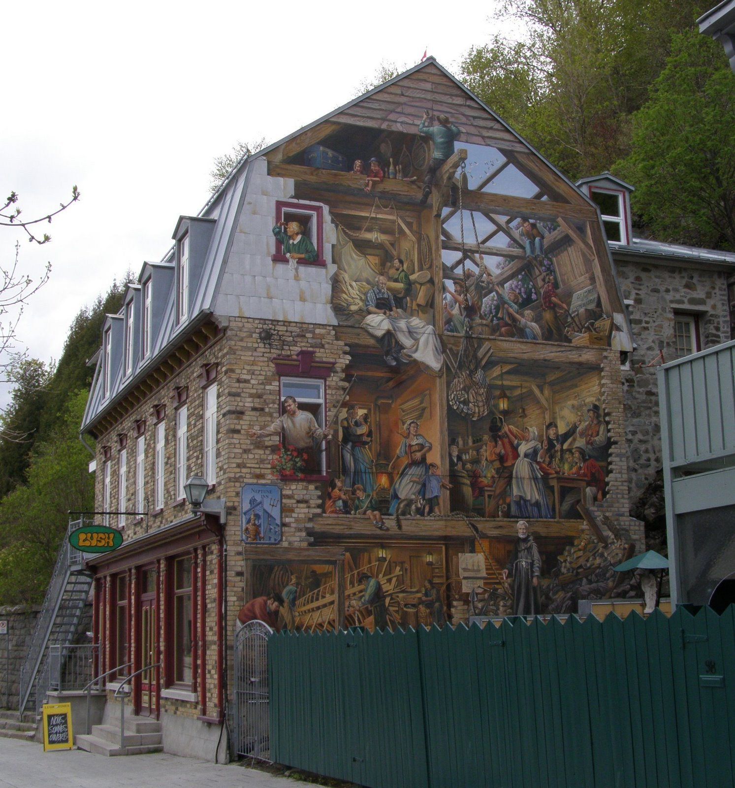 Rambling traveler wall murals of quebec city petit champlain mural quebec city wall mural amipublicfo Choice Image