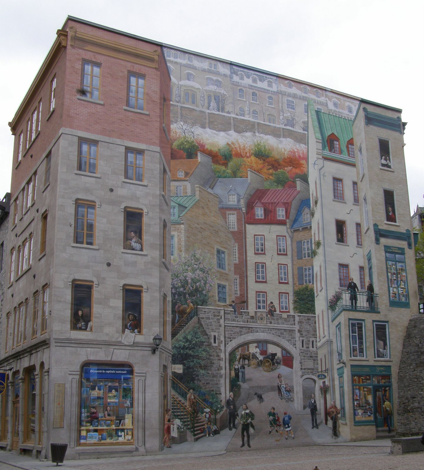 rambling traveler wall murals of quebec city