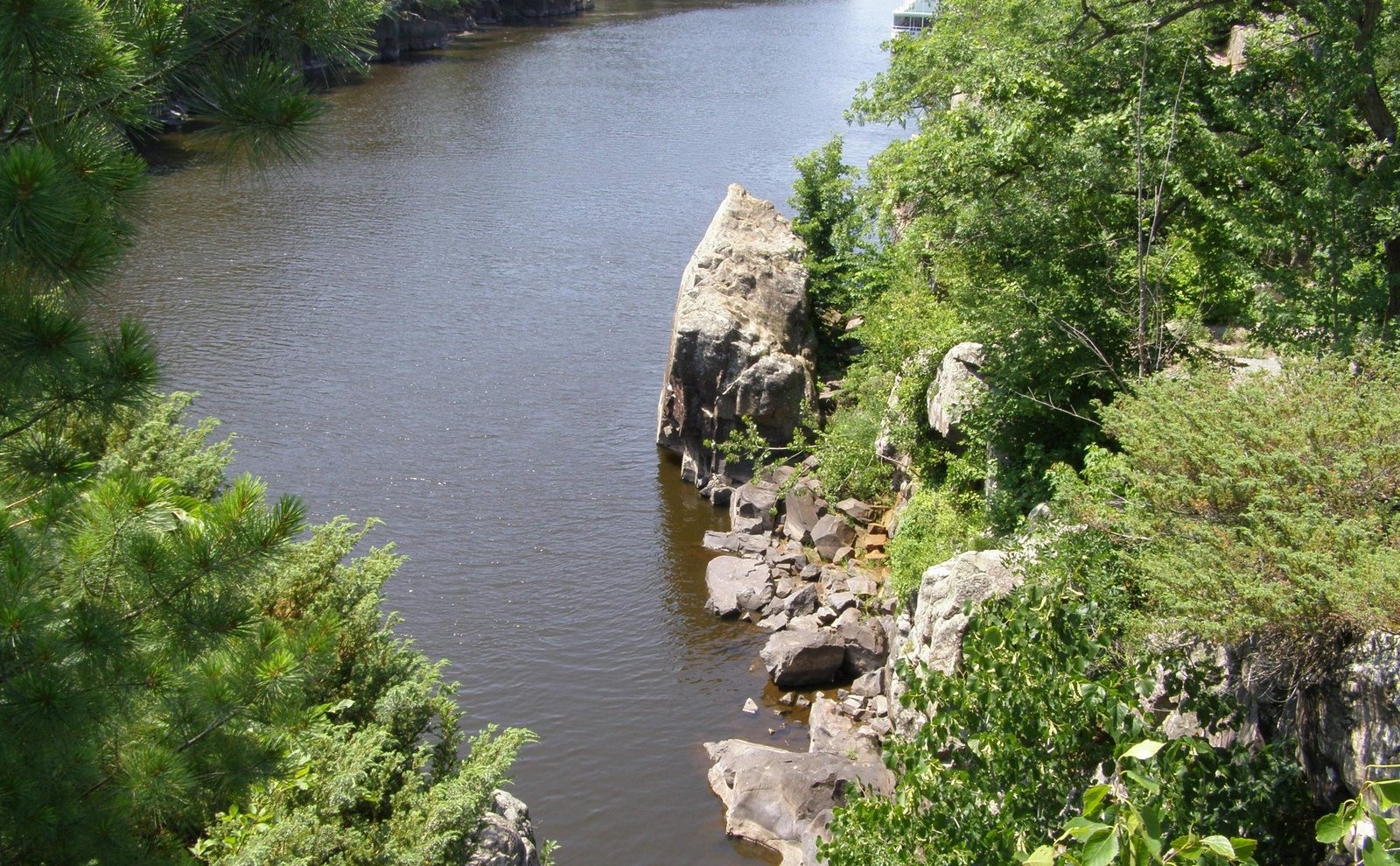 st. croix river, taylors falls, minnesota