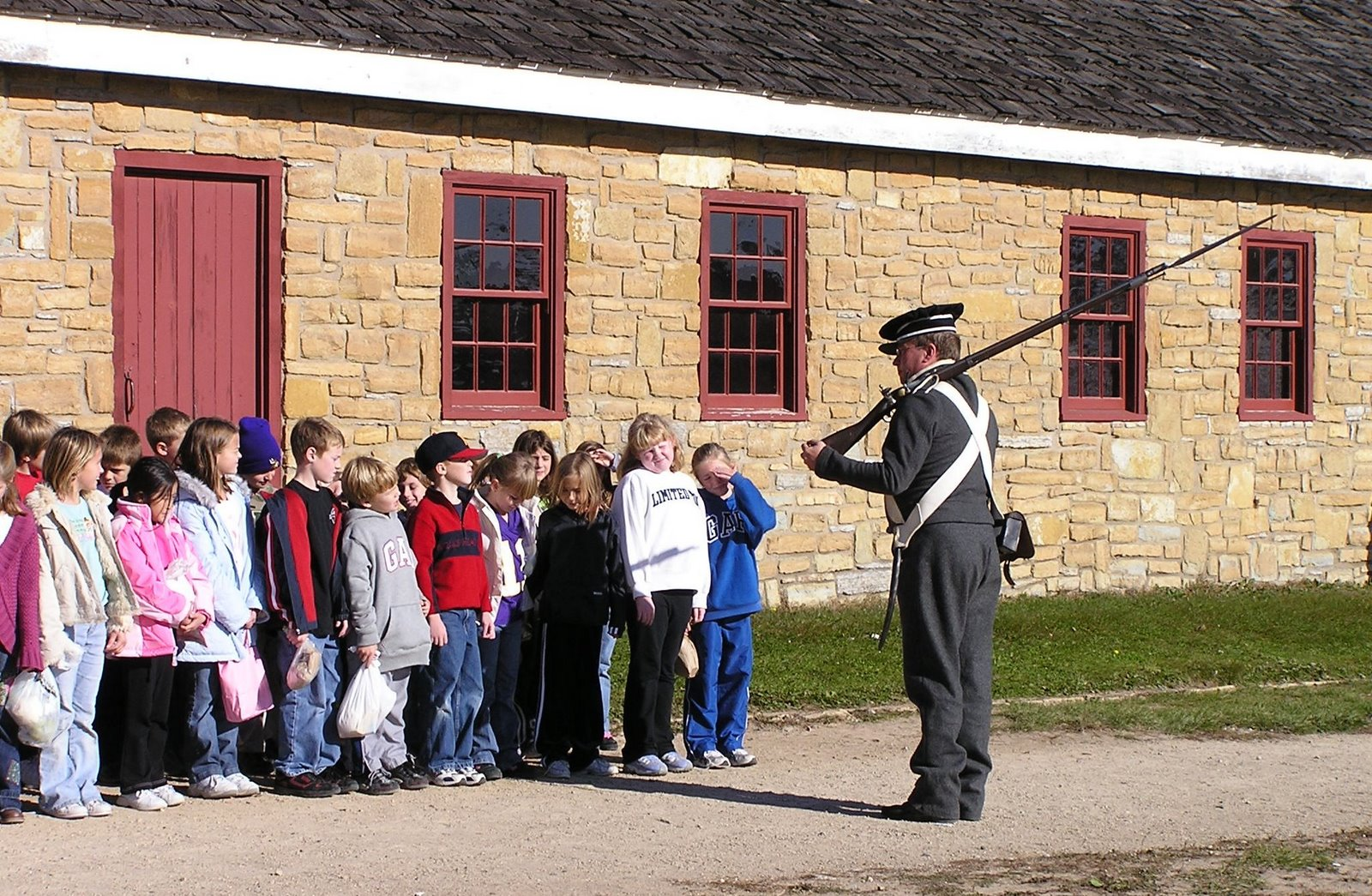 soldier at fort snelling